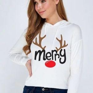 Reindeer T- Shirt Hoodie